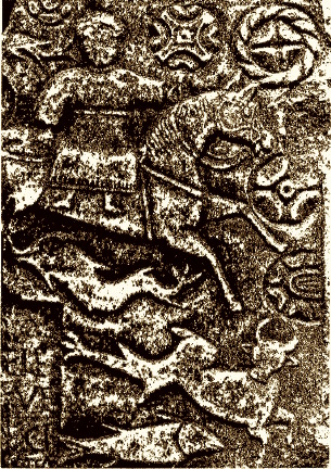 EPONA with fabulous beast from a funeral stone in Gaul