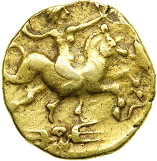 Celtic Coinage. Northwestern Gaul. The Redones. Gold Stater (8.04 g, 20 mm). 2nd century B.C. jpg